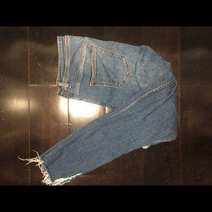 Zara Basic Skinny Distressed Jeans